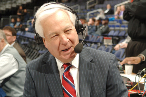 Bill Raftery, explaining his gift for announcing college basketball through closed eyes.