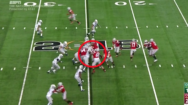 "Blocking ""down"" or inside is easy for Ohio State."