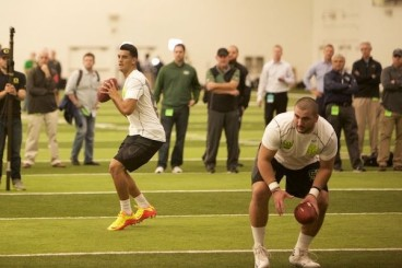 Mariota had an average Pro Day.