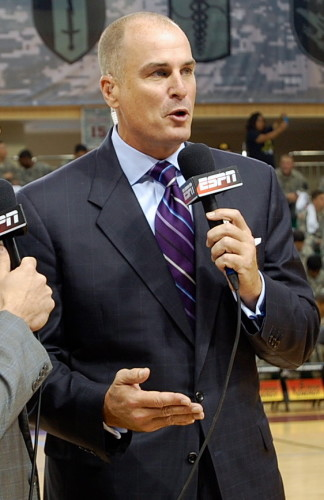"Jay Bilas' audition tape for the role of ""Cranky,"" in The Seven Dwarves call a basketball game."