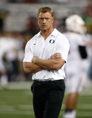 Offensive Coordinator Scott Frost will have to adjust to life without Mariota