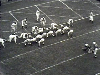 Oregon defeats Washington State in 1948 . The Webfoots would finish 9-1 and play in the Cotton Bowl.