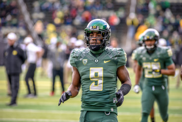 Byron Marshall has embraced his role as an all-purpose back, becoming a reliable and flexible weapon for the Ducks.
