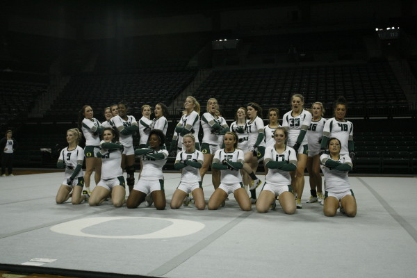 2013 UO Acrobatics and Tumbling team