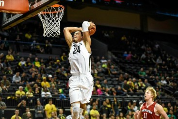 Towards the end of the season, we started noticing the excitement Dillon Brooks brings when he throws down thunderous dunks such as this one.