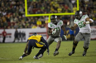 Oregon's coaching staff expects Royce Freeman to be more of a leader next season.