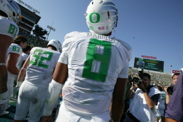 Marcus Mariota, who was Oregon's  first Heisman winner, is expected to be a top-two pick in the NFL Draft.
