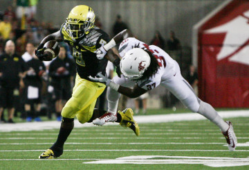 In successive seasons Byron Marshall has been Oregon's leading rusher and then receiver.