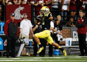 Devon Allen shows off his speed.