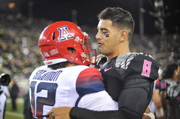A true sportsman, Mariota is gracious in defeat.