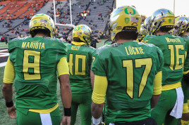 Mariota (8), Lockie (17), and Mahalak (16) last season in the Civil War