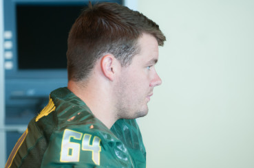 Tyler Johnstone at the 2014 Media Day.