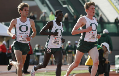 Oregon's big three at the Pepsi Invitational.
