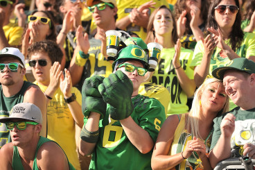 Oregon fans looking for an opportunity to be loud.