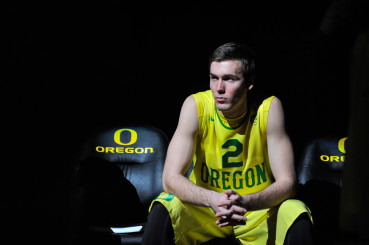 Casey Benson waiting to hear is name called as the Ducks take on bitter rival, Oregon State