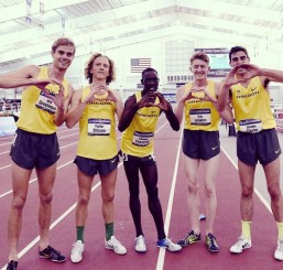 Oregon men after winning another indoor national title
