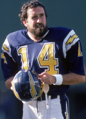 Dan Fouts is a member of the Pro Football Hall of Fame with the San Diego Chargers.