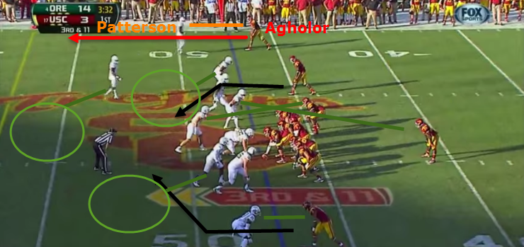 Agholor's go route was a man-coverage killer.