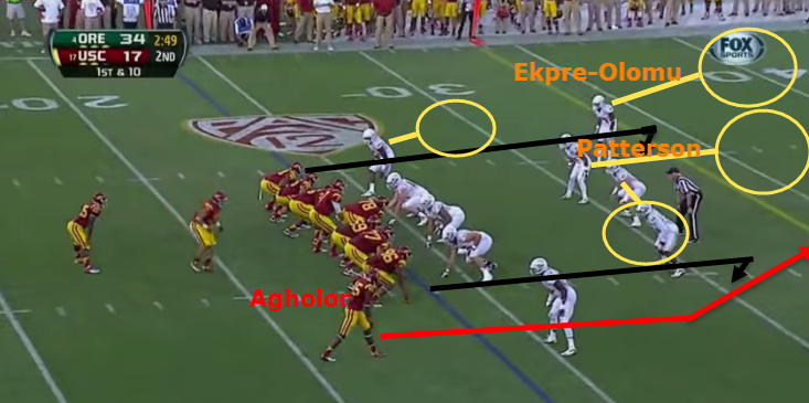 Another one-on-one battle for Agholor. This time, against Cover 3.