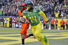 A talented ball hawk, Ekpre-Olomu is clearly a 1st round talent