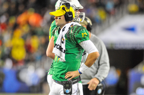 Sitting behind Mariota.... But we still want you to help us run the offense.