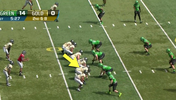Not the prototype Oregon tackle...