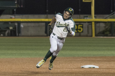 Austin Grebecks triple sparked the Oregon offense.
