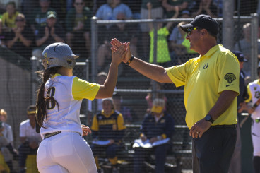 Coach White has a roster loaded with talented hitters, such as freshman Lauren Lindvall.