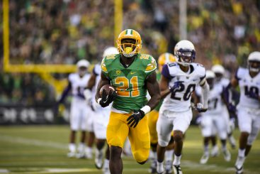 Royce Freeman breaks free vs. Washington