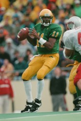 Akili Smith in uniforms before the involvement of Nike
