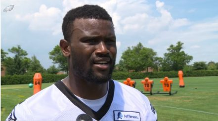 Walter Thurmond, newly minted safety, at OTAs