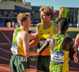 Ducks celebrate a 1-2-4 finish in the 5K.
