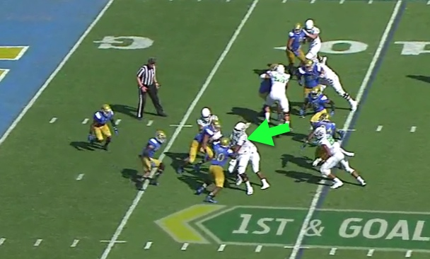 See how Crosby moved off the combo block...