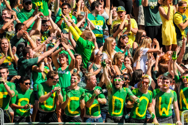 Duck fans are loud and proud.