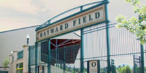 The entrance to Hayward Field