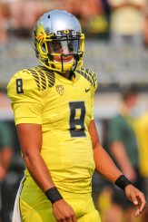 The Duck offense has to find production elsewhere in the wake of Marcus Mariota's departure to the NFL.