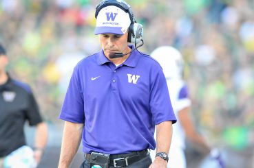Chris Petersen ponders how to make Lake Washington visible from the playing field.