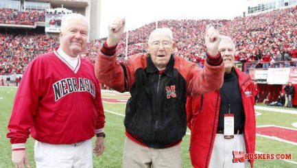 Ron Douglas with his sons at the Nebraska vs Minnesota game in 2014.
