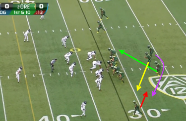Oregon vs Colorado Zone Read Reverse 1