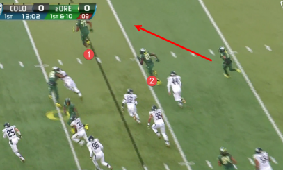 Oregon vs Colorado Zone Read Reverse 4