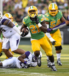 Royce Freeman breaks free against Washington