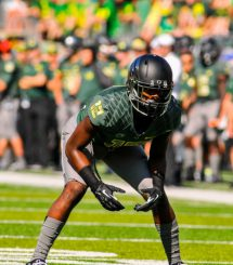 Sophomore Chris Seisay looks to anchor a reloading secondary for the Ducks in 2015.