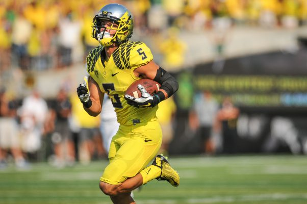As Devon Allen coasted into the end zone, Michigan State defenders could do nothing but think about the tornado of speed that burst right by them.
