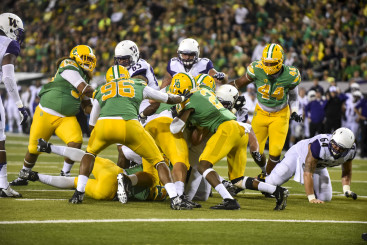 Oregon's rush defense should a strength in 2015, something new to Duck fans who have grown accustomed to porous run defense.