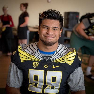 Get to know Canton Kaumatule. He might be nice off the field, but he becomes vicious on the field.