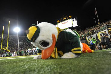 While his silly antics make him a fan favorite, his ability to do hundreds of push-ups on game day helps make the Ducks special.