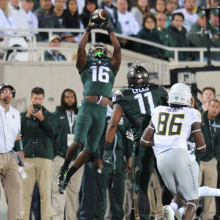 Michigan States' defense forced two interceptions on Saturday night