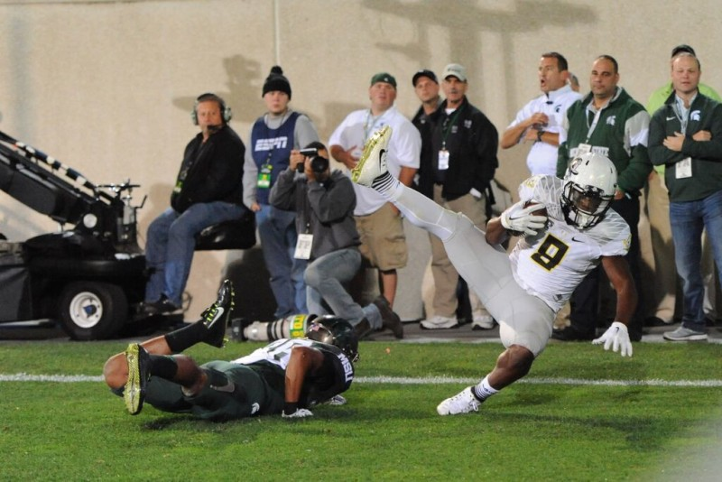 Byron Marshall catches a TD.