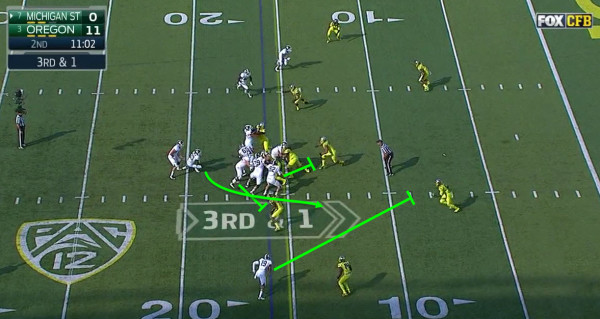 The crack block from the receiver and the block from the pulling guard are big time.