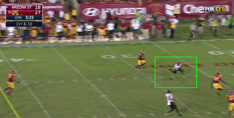 A good pass, or both players on the same page, means touchdown for the Sun Devils.